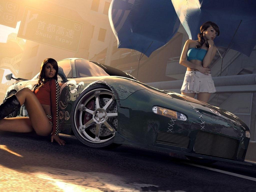 Две девушки возле машины из нид фо