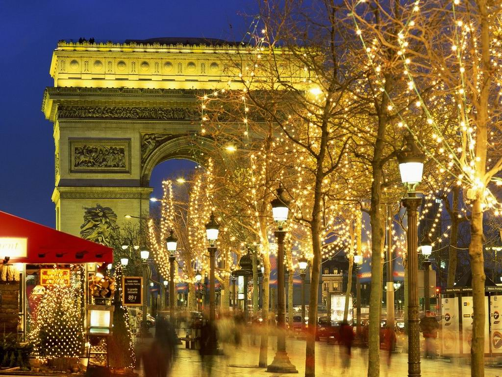 Париж в новый год картинки