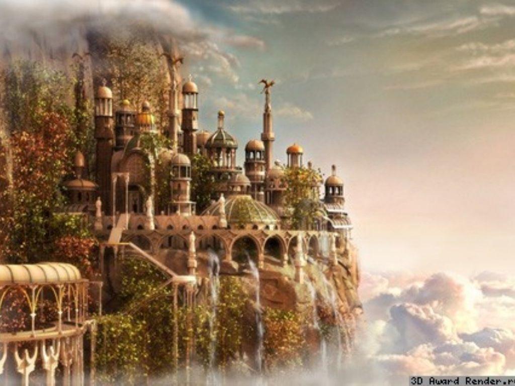 Дворцовый городок высоко под облаками