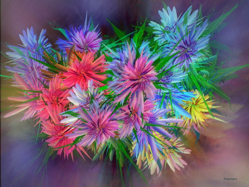 Чудный букетик цветов картинки и
