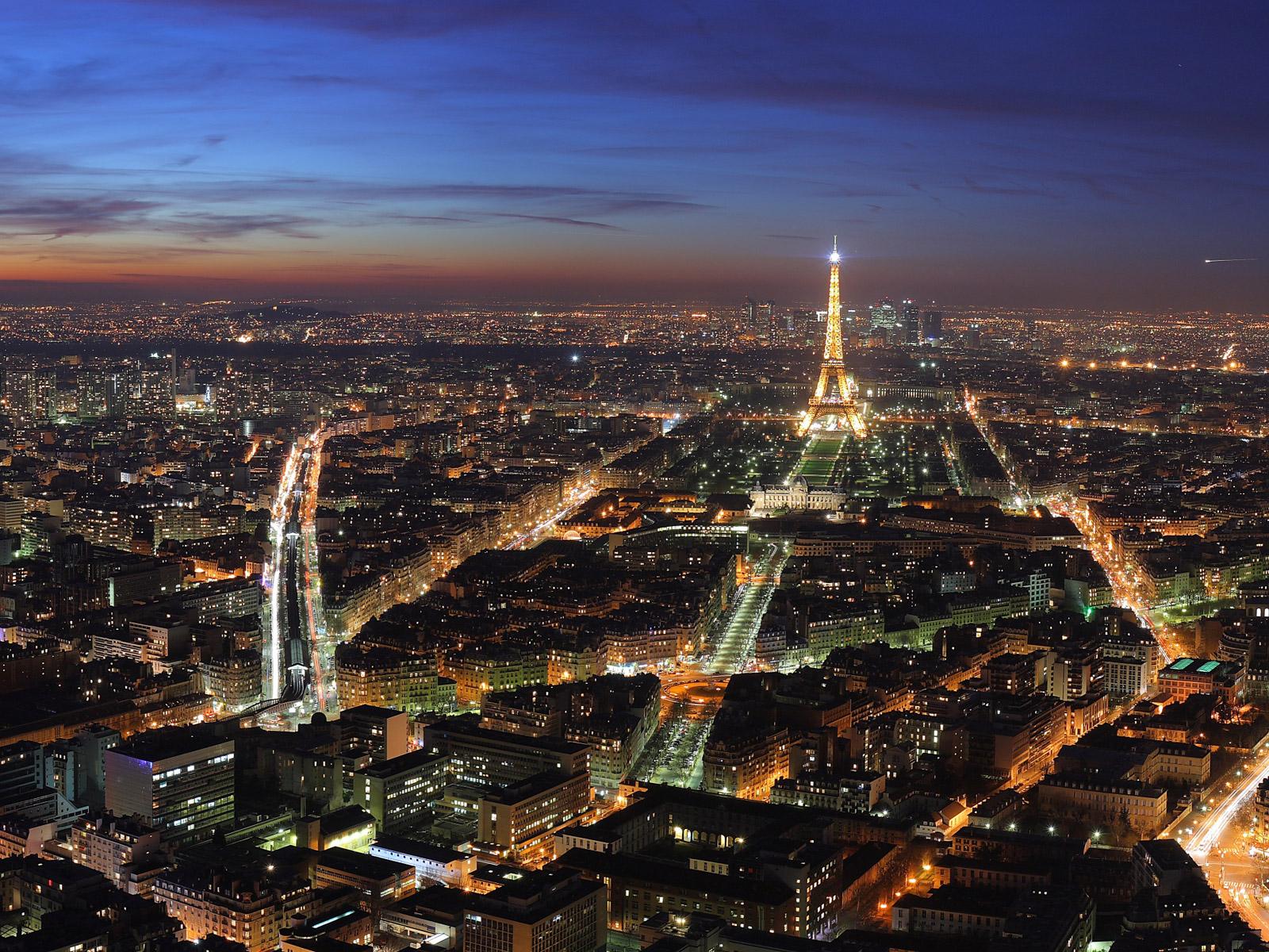 Город париж сверху ночью гламурные