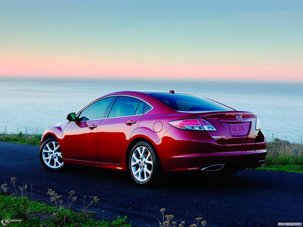 HD Красная Mazda 6, Красная мазда…