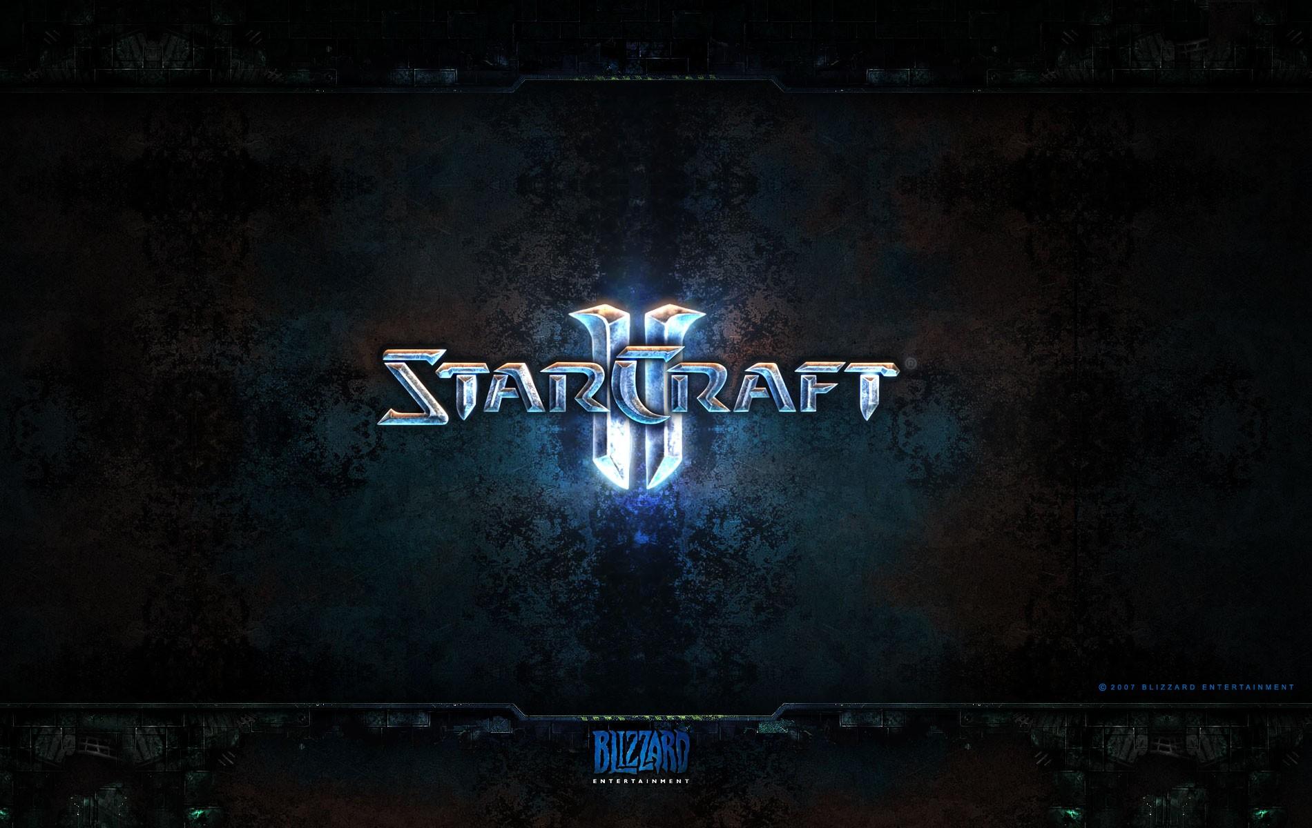Обои 1900x1200 логотип игры starcraft