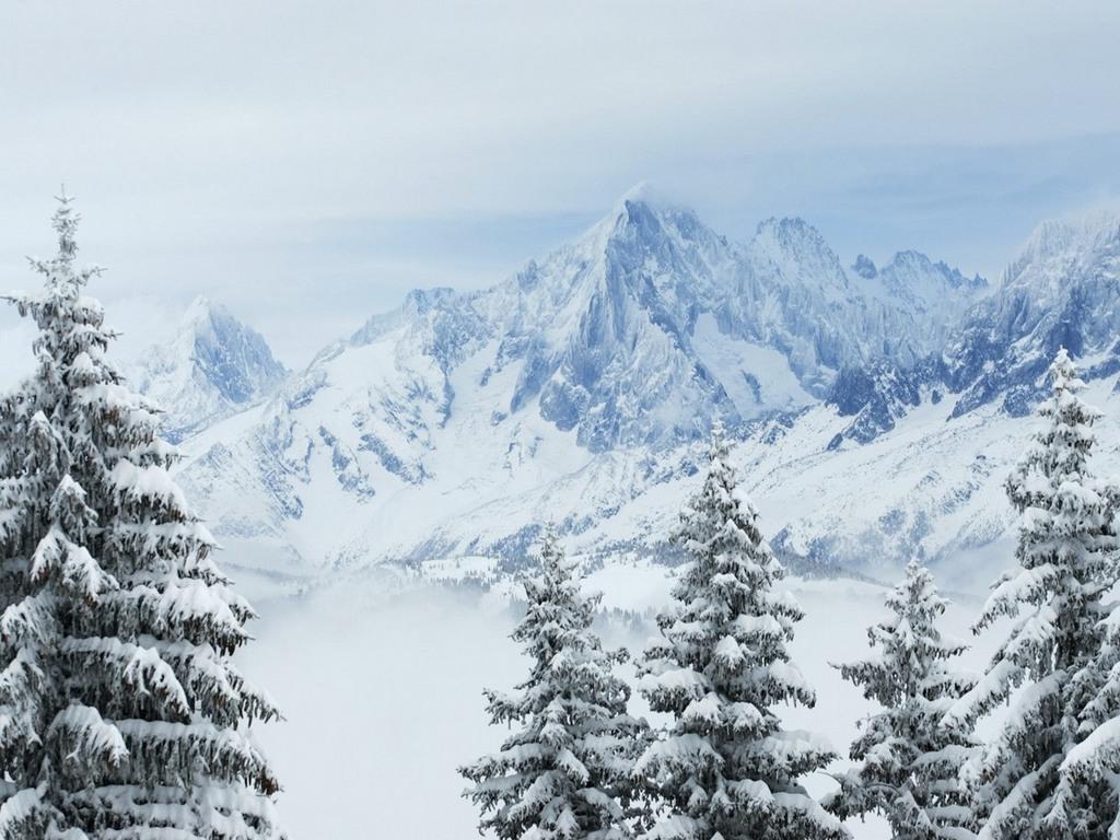 Зима горы обои для рабочего стола