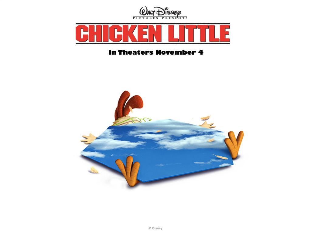 Цыпленок Цыпа (Chicken Little) картинки, шпалеры равно фоновые рисунки для