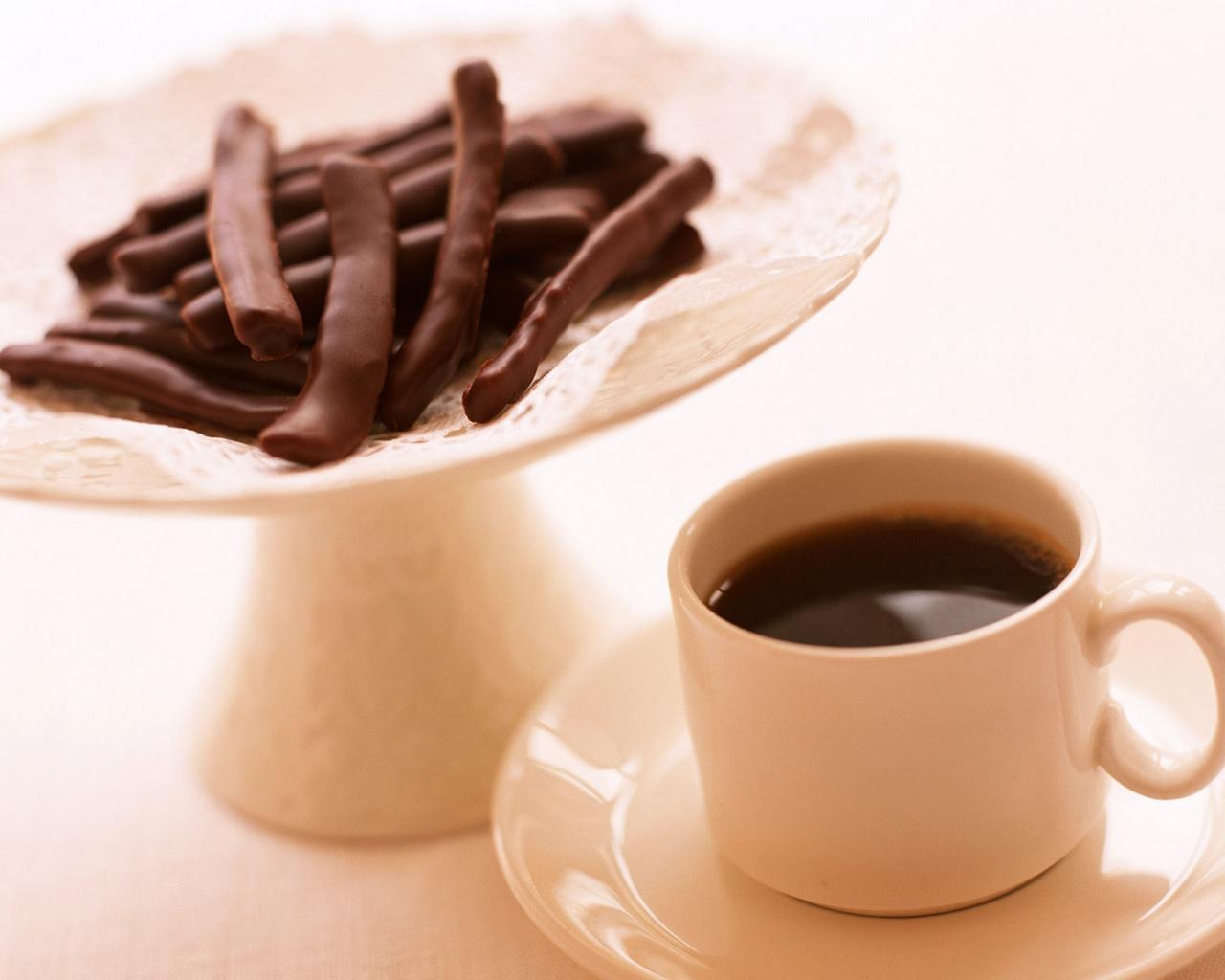 Кофе с молоком открытка