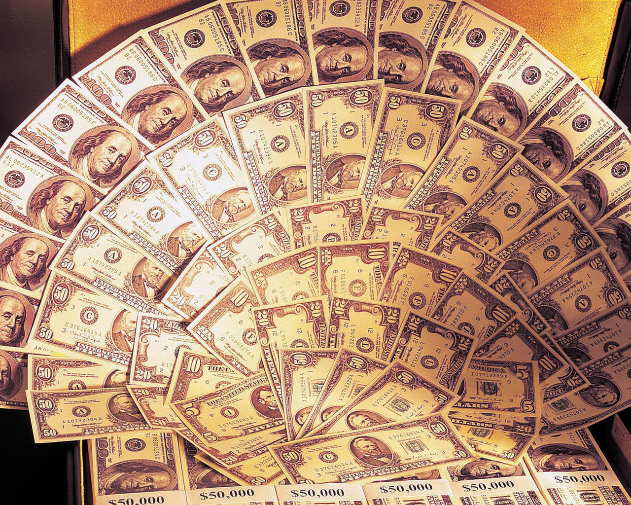 Пачки грошей шпалери на робочий стіл