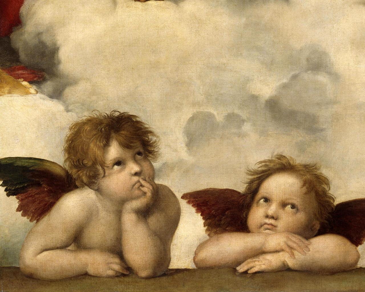 Обои 1280x1024 ангелы рафаэль обои и