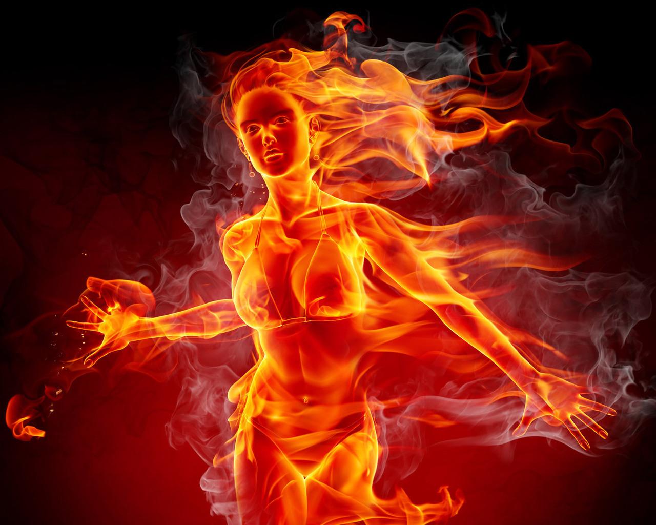 Огненные девушки картинки