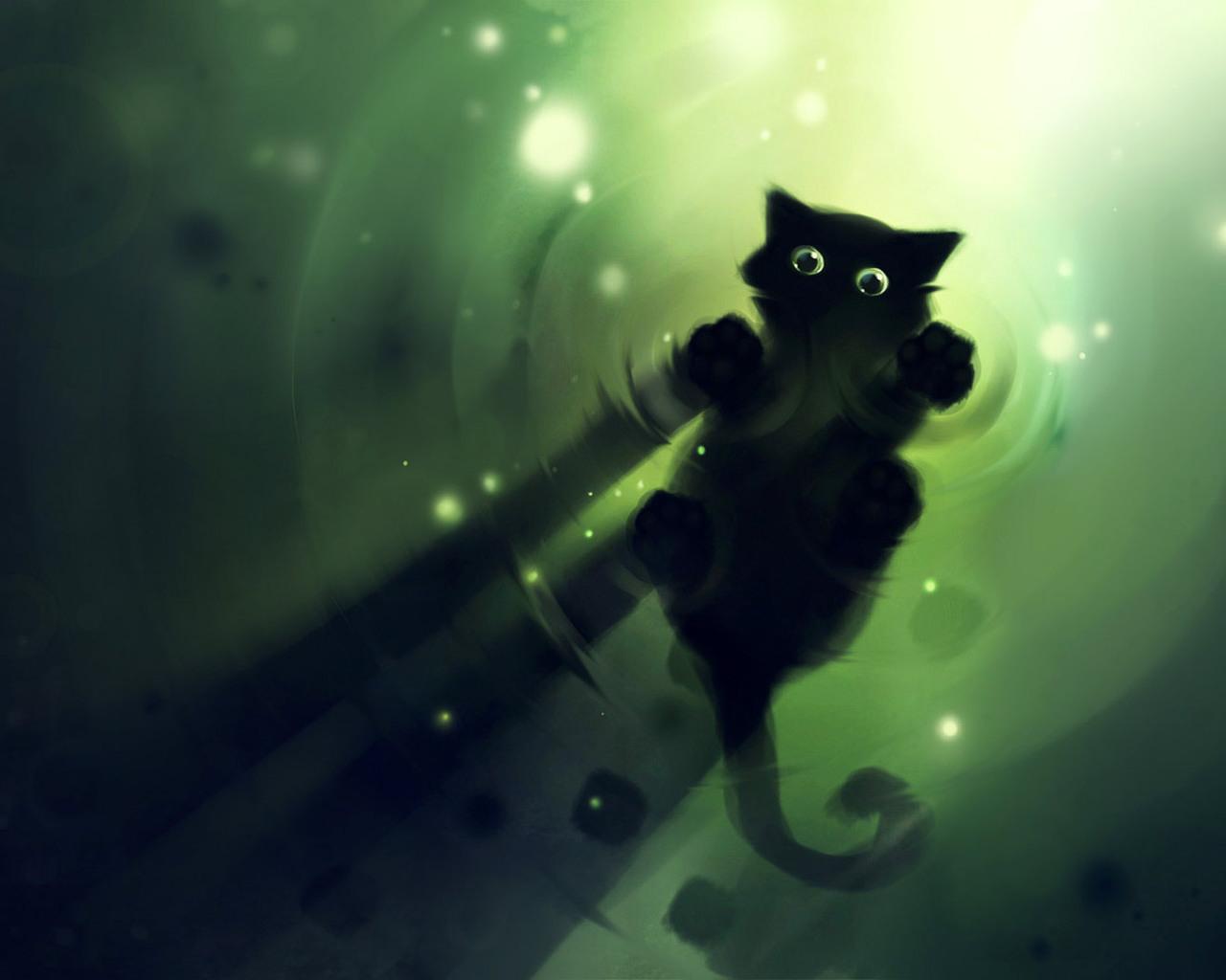Black Cat 3d coole Bilder - Tuning Wallpaper Hintergrundbilder, Fotos