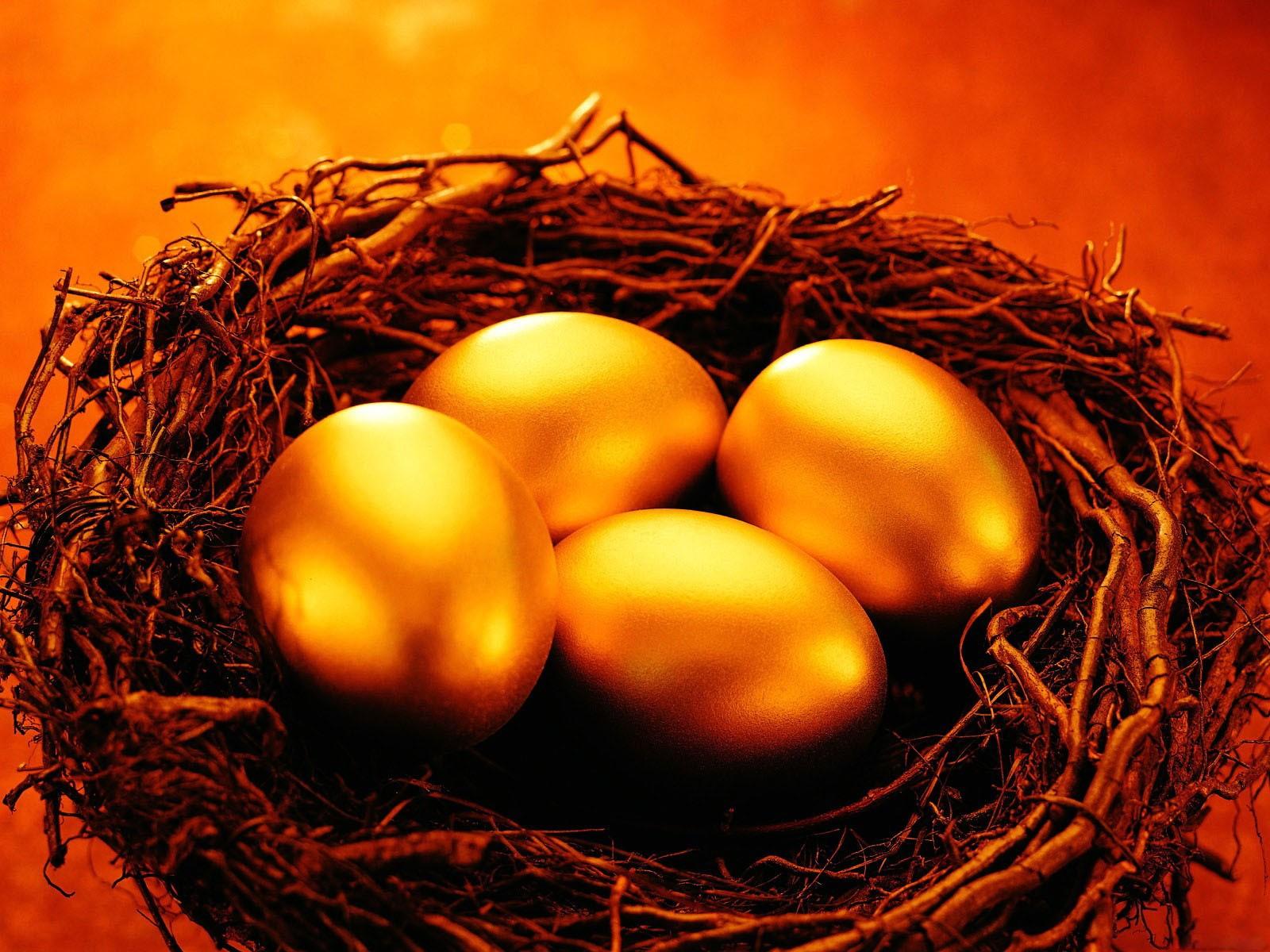 фото золотые яйца