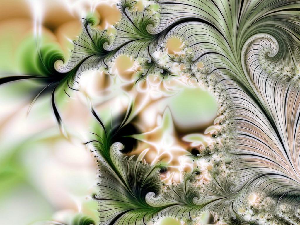 Абстракция из листьев деревьев обои